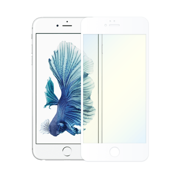 protège ecran verre trempe anti lumiere bleue apple iphone 6 blanc