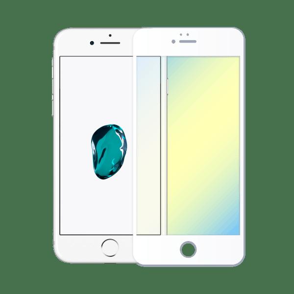 protège ecran verre trempe anti lumiere bleue apple iphone 7 blanc