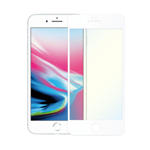 protège ecran verre trempe anti lumiere bleue apple iphone 8 blanc