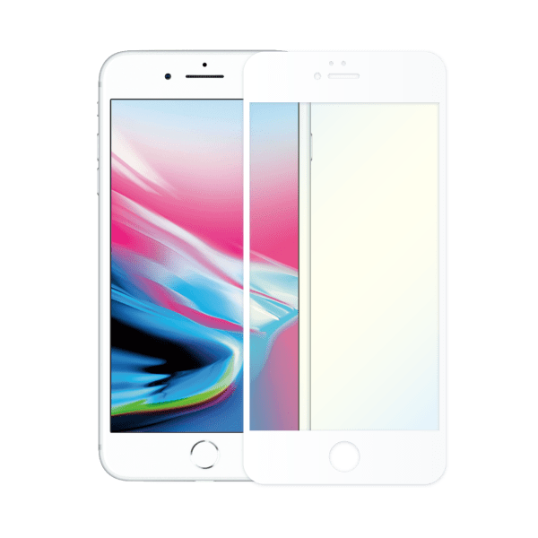protège ecran verre trempe anti lumiere bleue apple iphone 8 blanc
