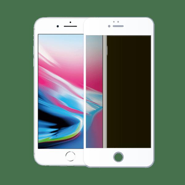 verre trempé confidentiel écran apple iphone 8 blanc
