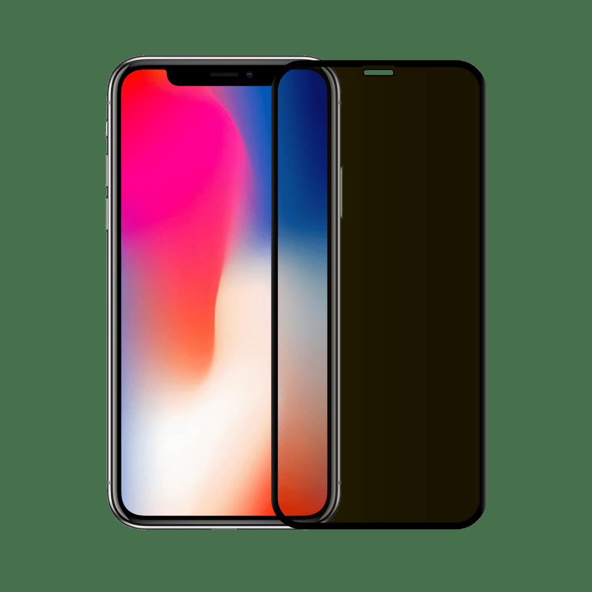 protege ecran anti espion verre trempe iphone x